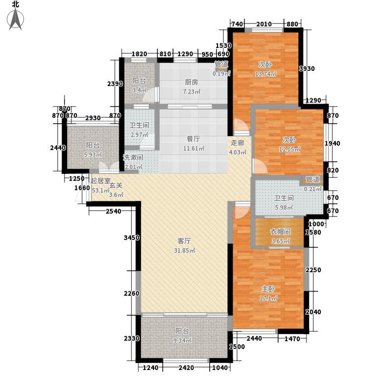 滨江俊园二期162.00㎡二期后湾J1户型3室2厅
