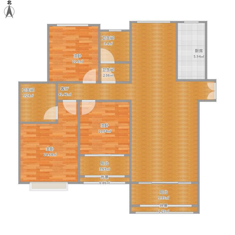 橄榄城五号院的户型图