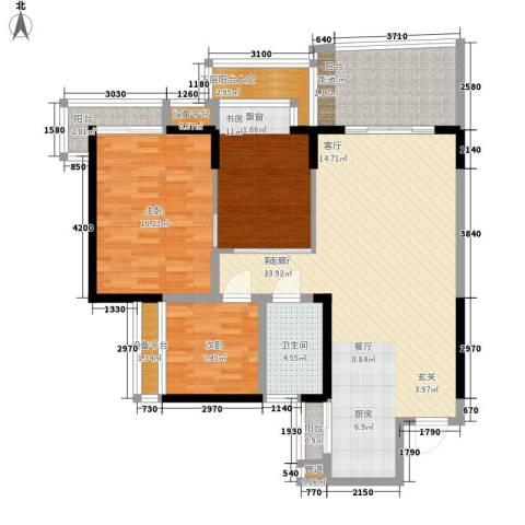 锦绣东方3室1厅1卫0厨112.00㎡户型图