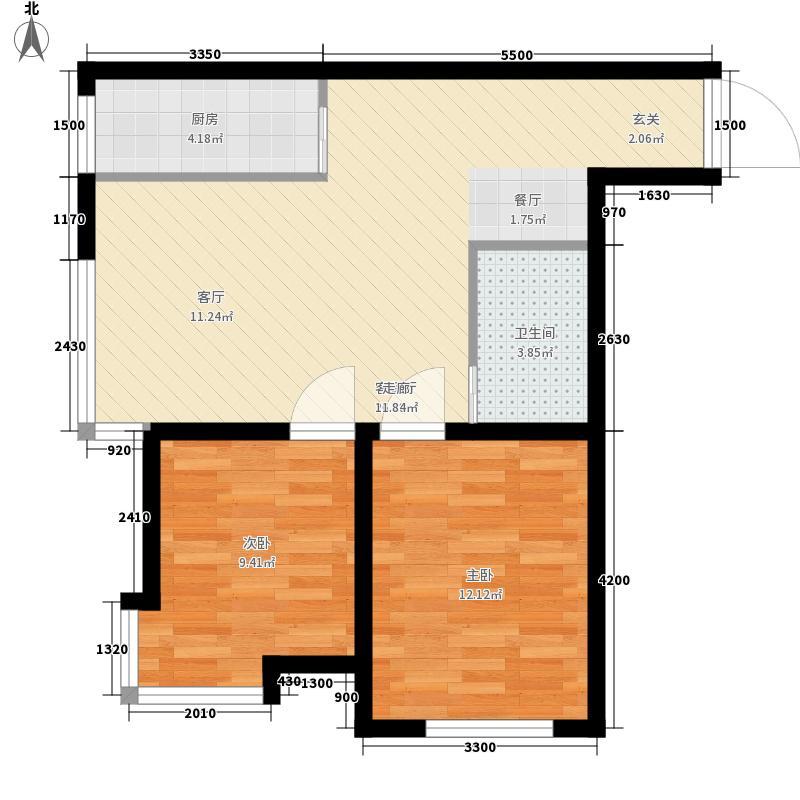 宏庭伟岸81.13㎡宏庭伟岸户型图2室2厅1卫户型10室
