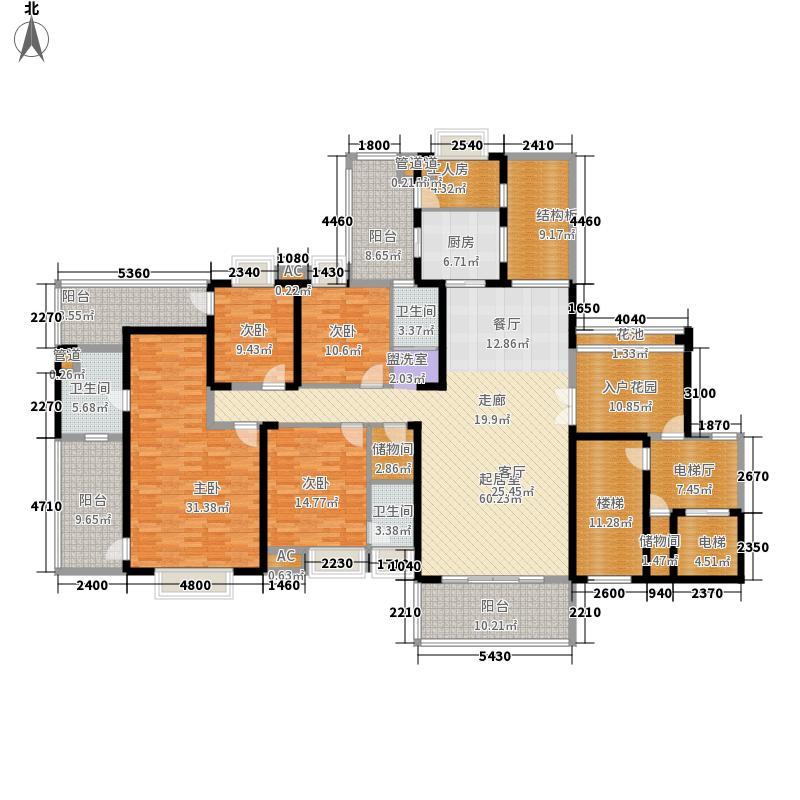 御府名筑217.67㎡御府名筑户型图4栋A户型4室2厅3卫1厨户型4室2厅3卫1厨