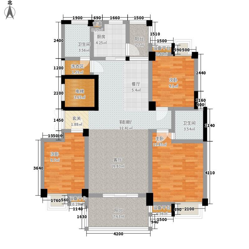 锦绣东方78.00㎡锦绣东方3室户型3室