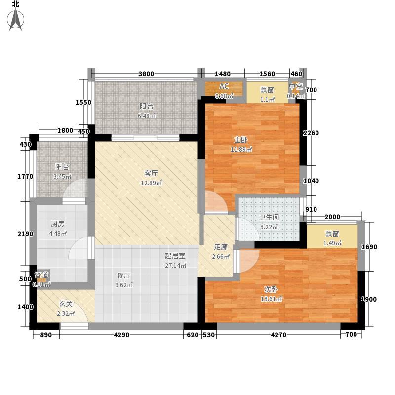 招商花园城招商花园城馨园(N3-1)4号房户型2室2厅