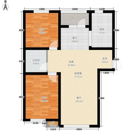 城市之星2室0厅1卫1厨108.00㎡户型图