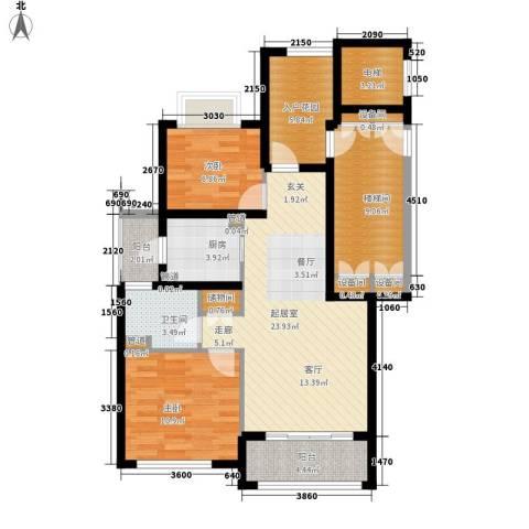 月亮湾3号2室0厅1卫1厨90.00㎡户型图