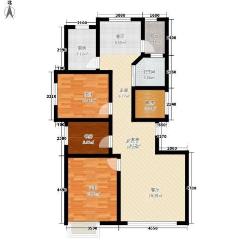 城市之星3室0厅1卫1厨121.00㎡户型图