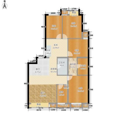 凯德锦绣3室0厅2卫1厨154.00㎡户型图
