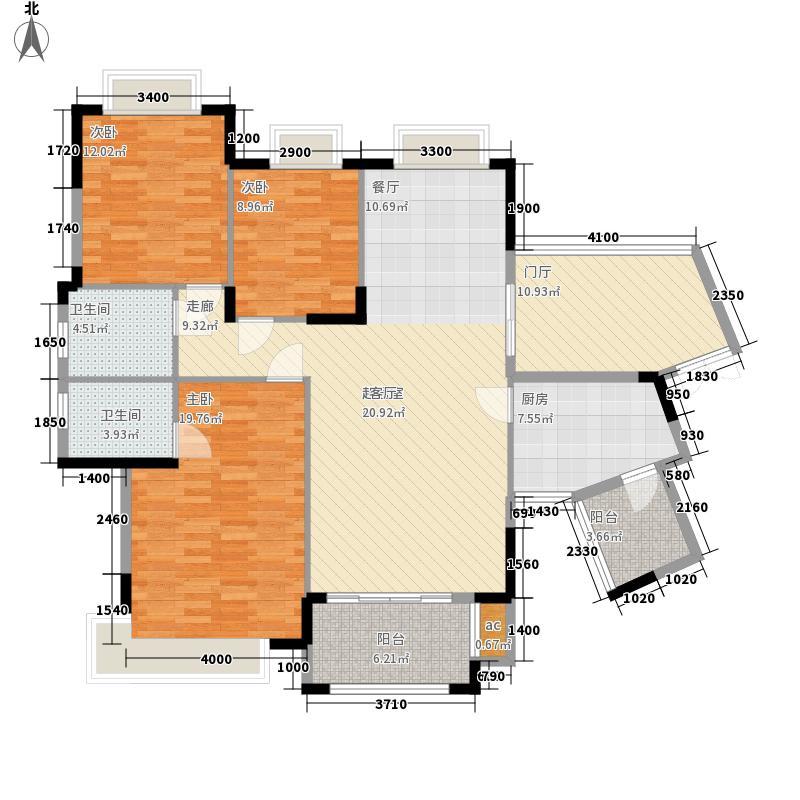 龙光普罗旺斯120.04㎡11#楼三单元02户型3室2厅