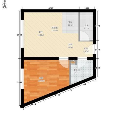 丽水丁香园1室0厅1卫1厨40.00㎡户型图