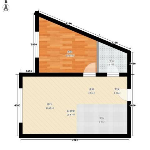 丽水丁香园1室0厅1卫0厨45.00㎡户型图
