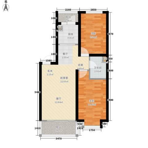 丽水丁香园2室0厅1卫1厨63.00㎡户型图