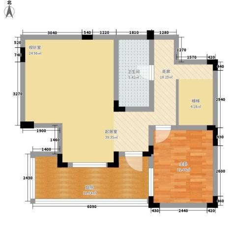蓝光十里蓝山1室0厅1卫0厨137.00㎡户型图