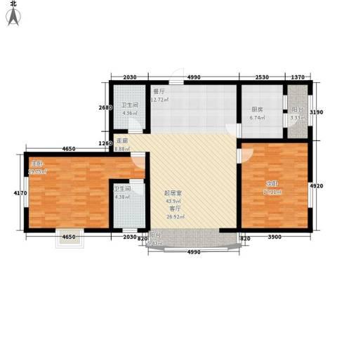 豪隆福顺江山2室0厅2卫1厨141.00㎡户型图