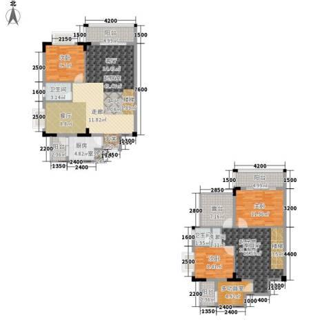 汇丰国际度假公寓3室0厅2卫1厨311.00㎡户型图