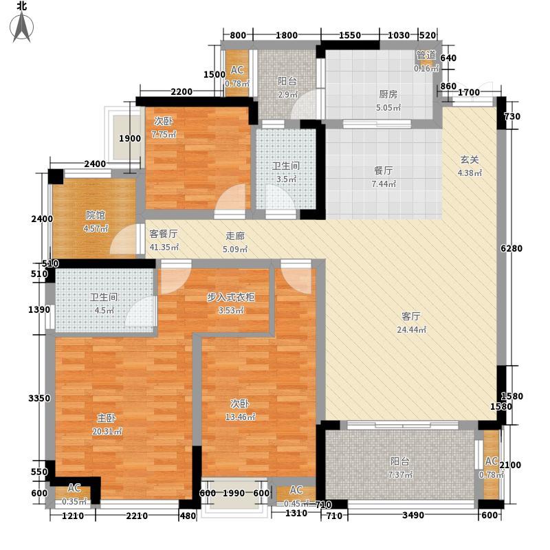 国际社区118.00㎡江御一期3号楼标准层D户型
