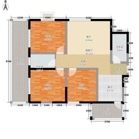 御笔华章3室1厅2卫0厨137.00㎡户型图