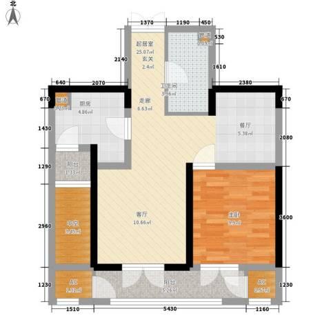 上榀坐1室0厅1卫1厨79.00㎡户型图