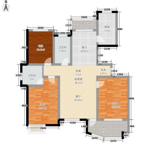 城市之星3室0厅2卫1厨156.00㎡户型图