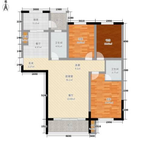 城市之星3室0厅2卫1厨144.00㎡户型图