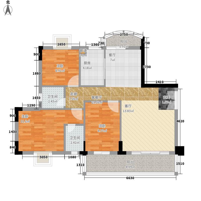 唐巷95.00㎡唐巷户型图3室户型图3室1厅1卫1厨户型3室1厅1卫1厨