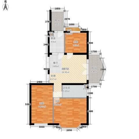 润园翡翠城3室0厅1卫1厨116.00㎡户型图