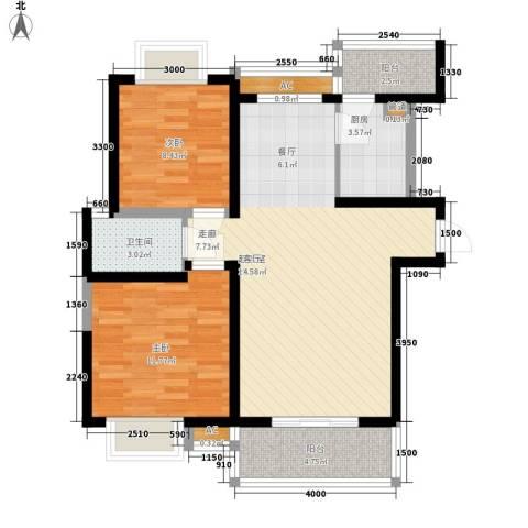 中山小区2室0厅1卫1厨100.00㎡户型图
