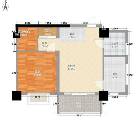 汇富广场1室0厅1卫1厨65.00㎡户型图