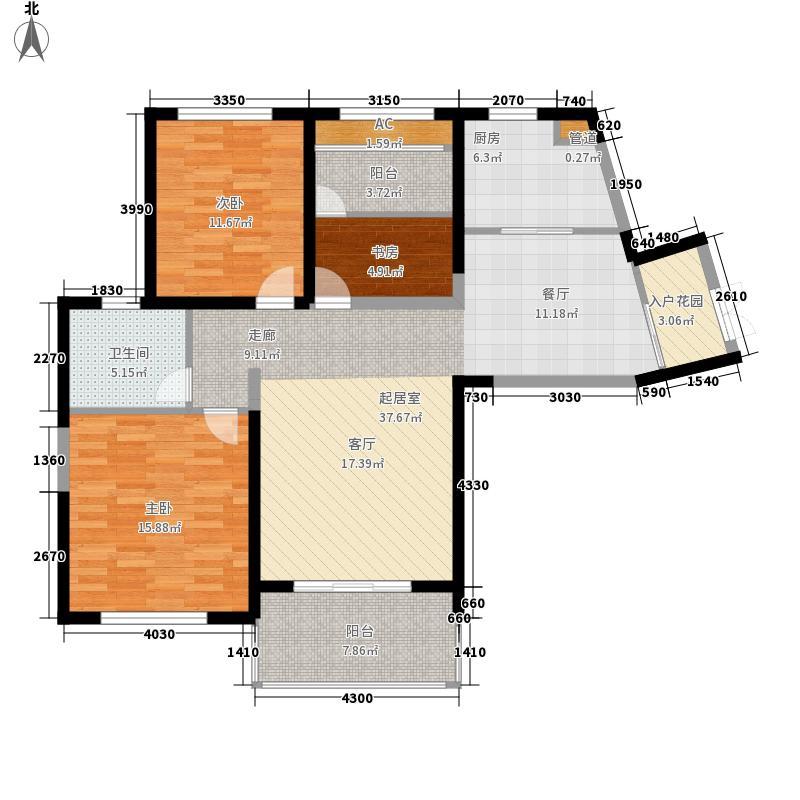 威尼斯水城112.00㎡御江天下c1户型3室3厅1卫1厨