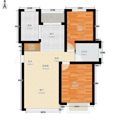 城市之星2室0厅1卫1厨96.00㎡户型图