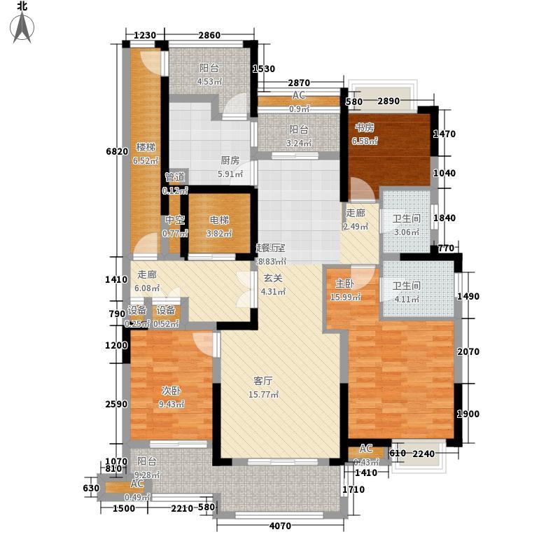 银亿东岸136.00㎡E2户型3室2厅