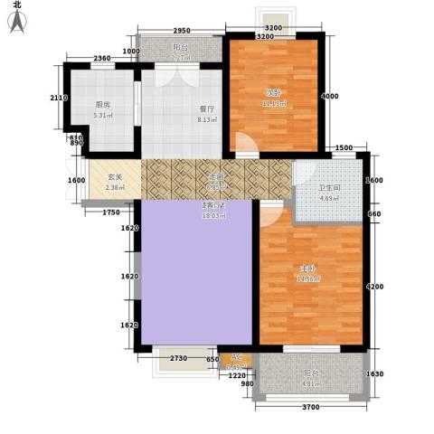 中登・悦园2室0厅1卫1厨97.00㎡户型图