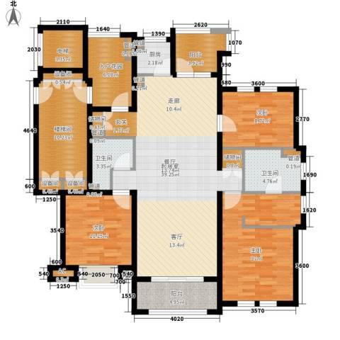 月亮湾3号3室0厅2卫1厨137.00㎡户型图