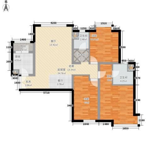 双花园西里3室0厅2卫1厨129.00㎡户型图