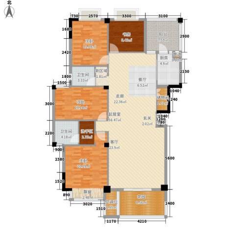 美丽南庭4室0厅2卫1厨164.00㎡户型图