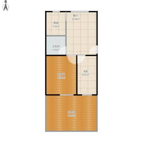 泾东一村1室1厅1卫1厨93.00㎡户型图