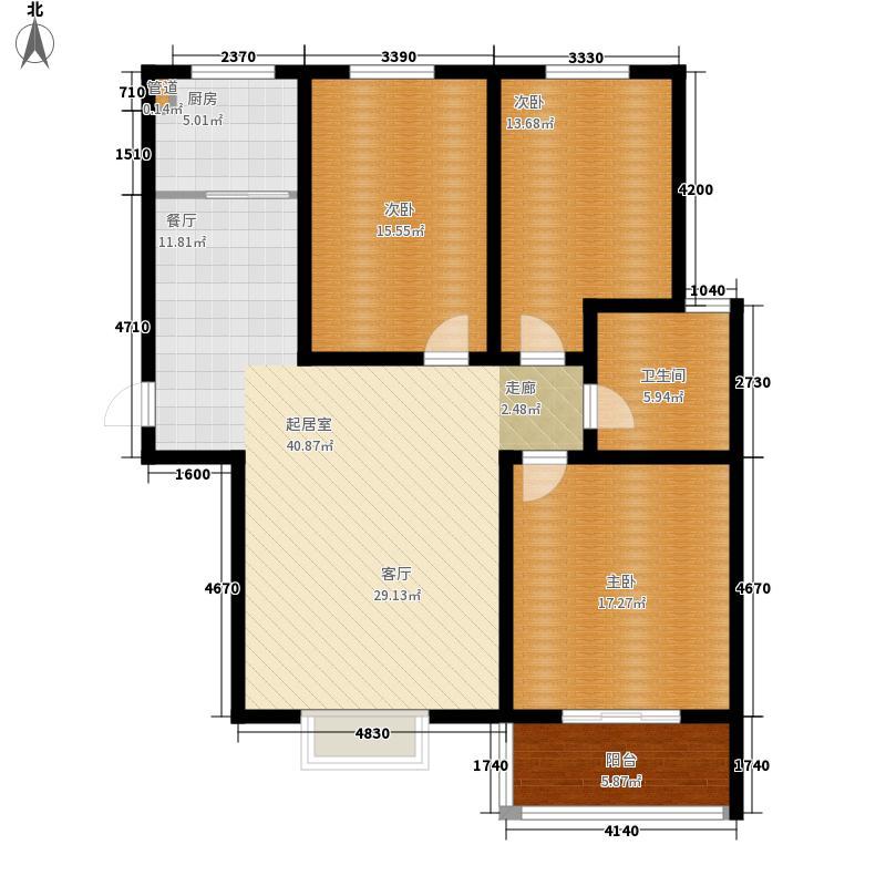 尚东金汇118.24㎡F户型3室2厅