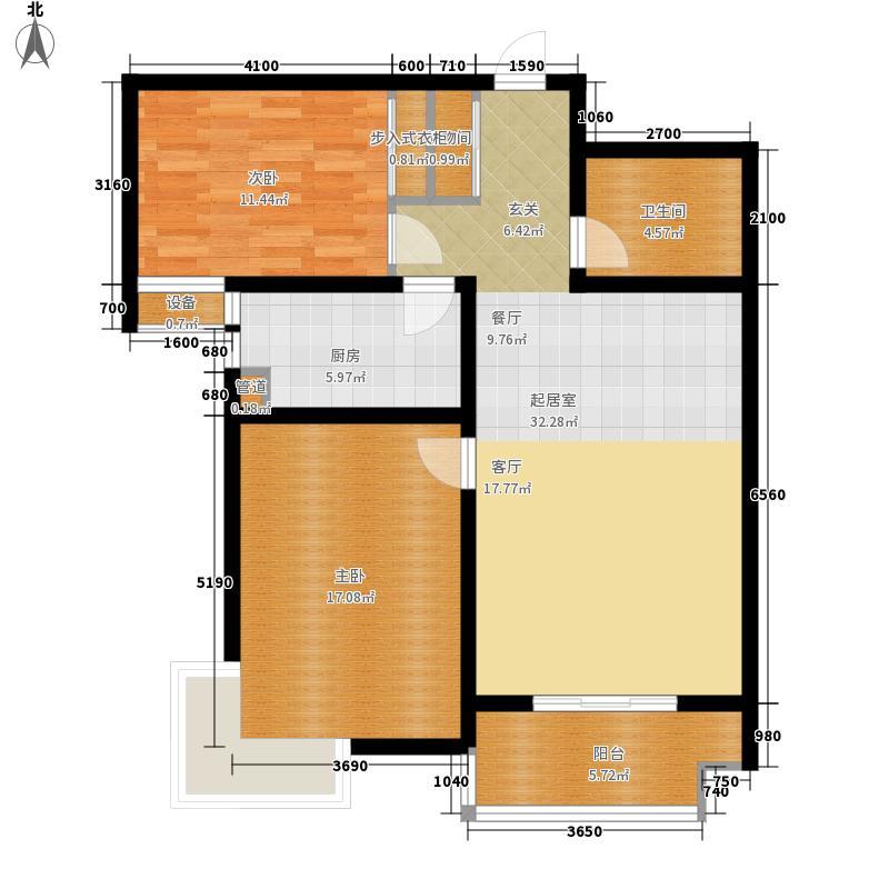 尚东金汇82.80㎡B户型2室2厅