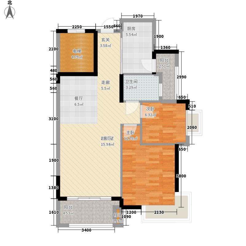 龙光普罗旺斯88.99㎡郁金香庄园户型2室2厅