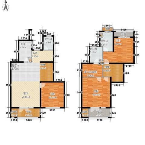 浦江颐城尚院3室1厅3卫1厨176.00㎡户型图