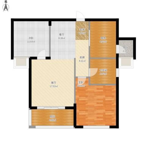 祥隆理想城2室1厅1卫1厨112.00㎡户型图