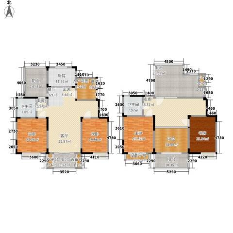 美满锦园4室1厅2卫1厨302.98㎡户型图