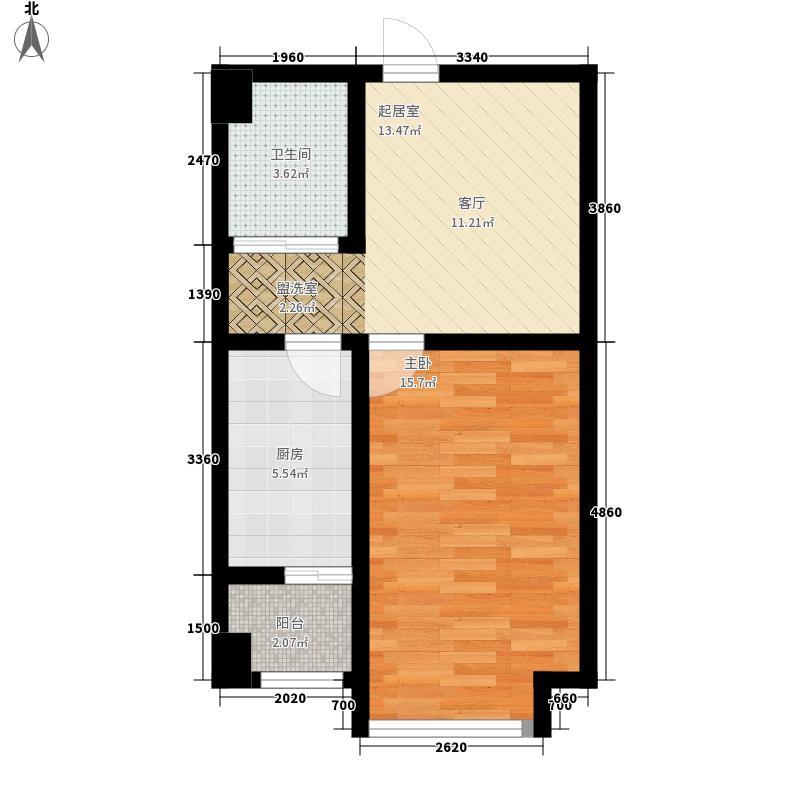 安然辰龙公寓48.79㎡安然辰龙公寓户型图一室一厅48.79平米1室1厅1卫1厨户型1室1厅1卫1厨