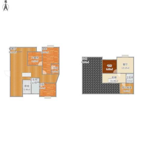 久隆凤凰城4室2厅2卫1厨264.00㎡户型图