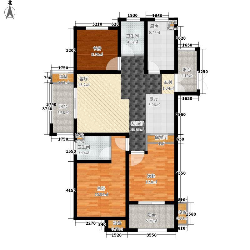 丽景湾华庭5#、8#楼东西边户G户型