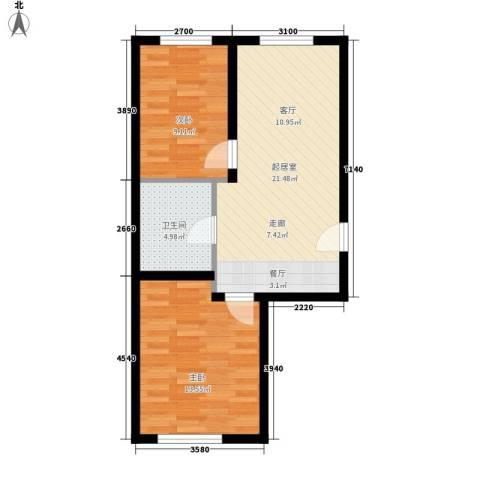 青岛街2室0厅1卫0厨69.00㎡户型图