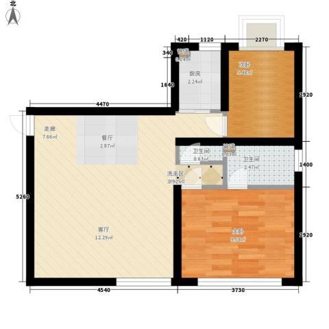 佳家SPORT2室0厅2卫1厨52.00㎡户型图