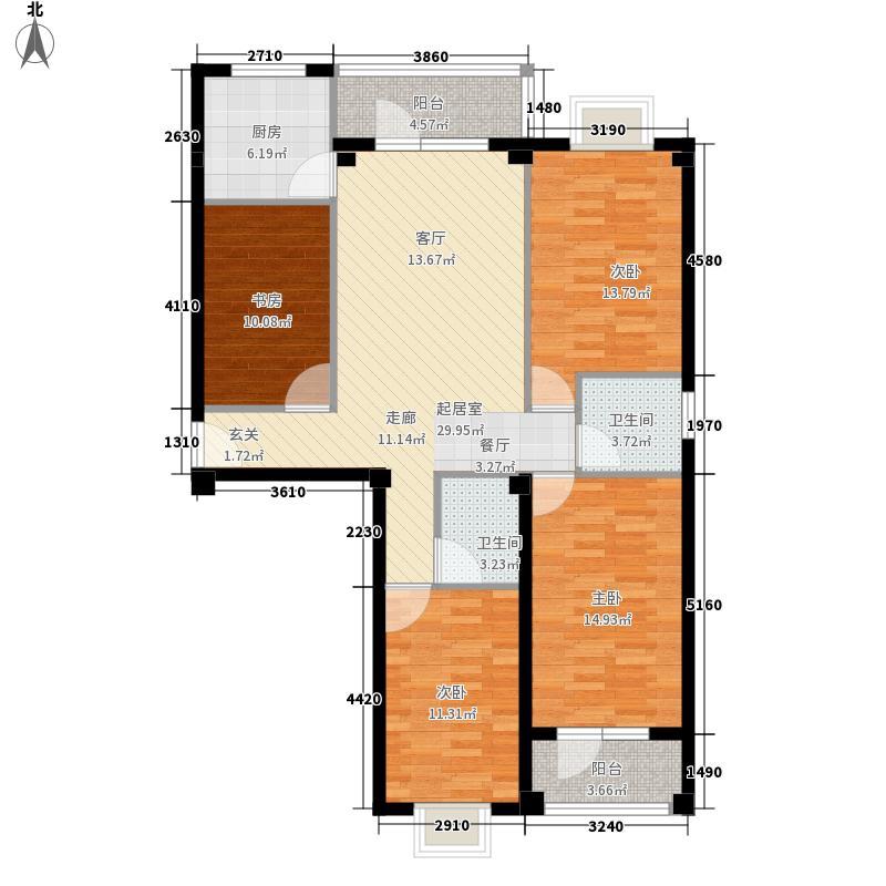金泽嘉园114.59㎡E户型3室2厅2卫1厨