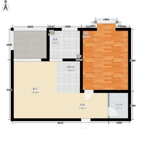 佳家SPORT1室0厅1卫1厨80.00㎡户型图