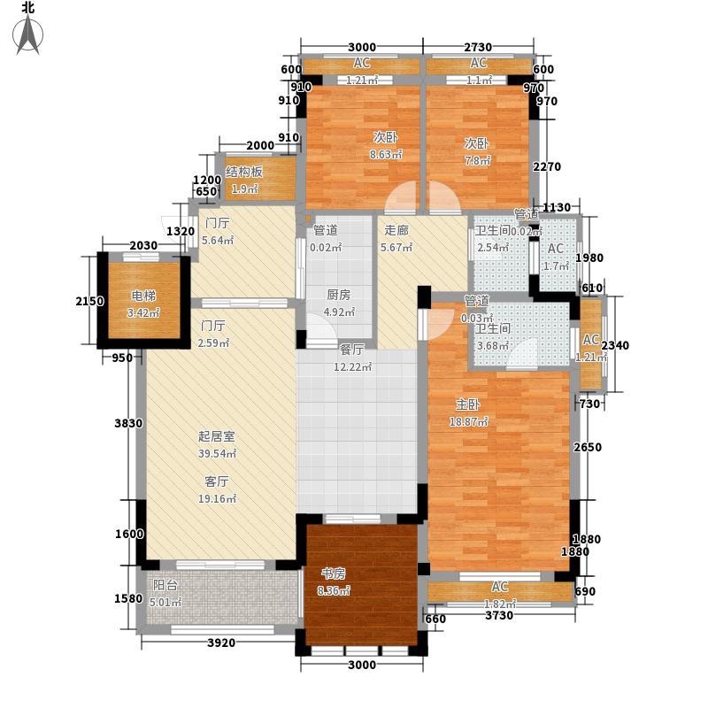 威尼斯水城136.00㎡十四街区15幢1层C-1户型3室2厅2卫1厨