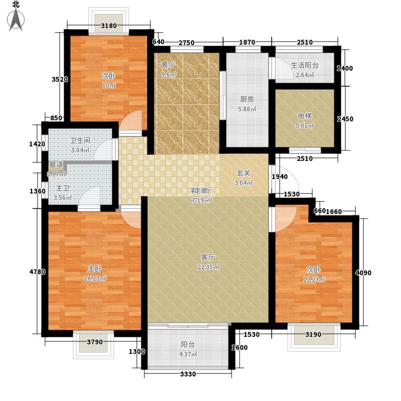 现代城121.26㎡现代城户型图户型图3室2厅2卫户型3室2厅2卫